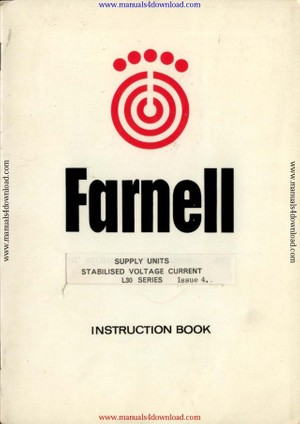 Farnell L30BT Instructions Manual
