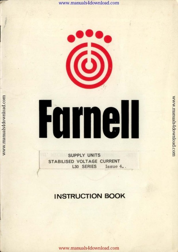Farnell L30BT Instructions Manual