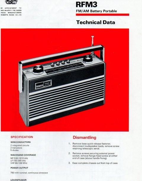 Roberts RFM3 Service Manual