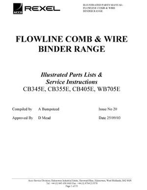 Rexel CB345E. CB355E. CB405E. WB705E Service Manual