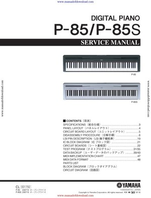 Yamaha P85 Service Manual