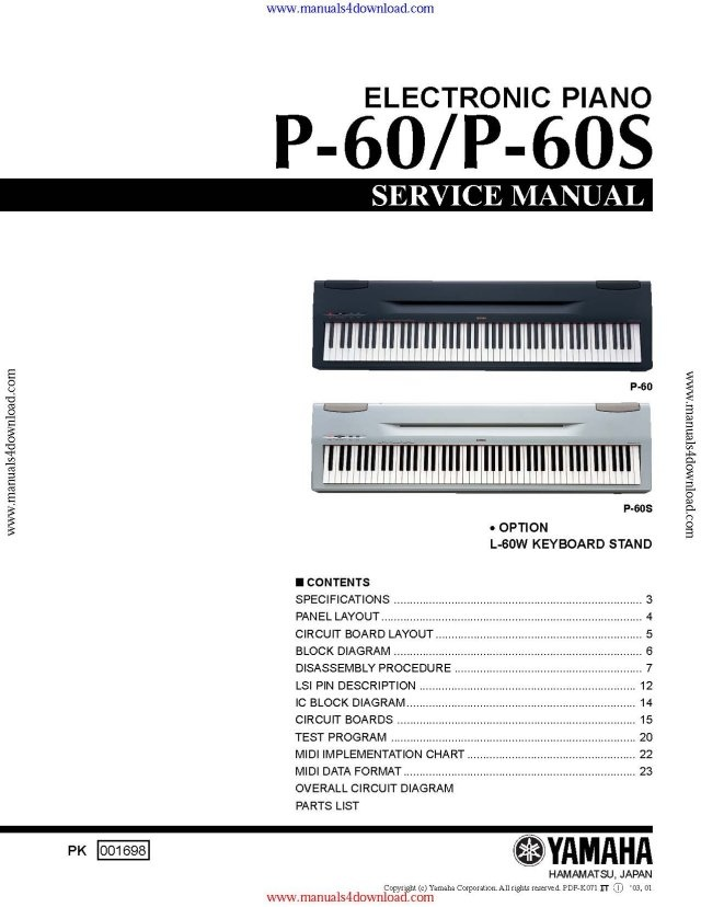yamaha p60 service manual mauritron technical services rh sellfy com yamaha p60 manuel yamaha electric piano p-60 manual