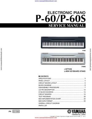 Yamaha P60 Service Manual