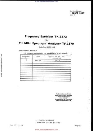 Marconi TK2373 Service Manual