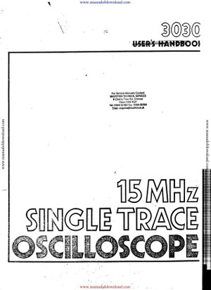 Crotech 3030 Instruction Manual
