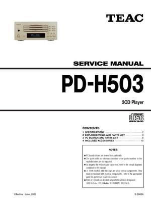 Technics PDH503 Service Manual