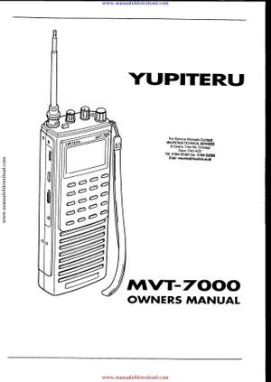 Yupiteru MVT7100 Operating Guide
