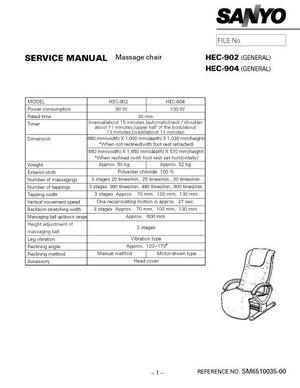 Sanyo HEC904 Service Manual