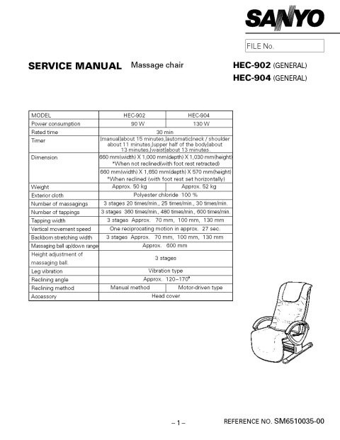 Sanyo HEC904 Service Manual