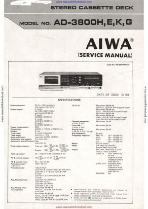 Aiwa AD3800 Service Manual