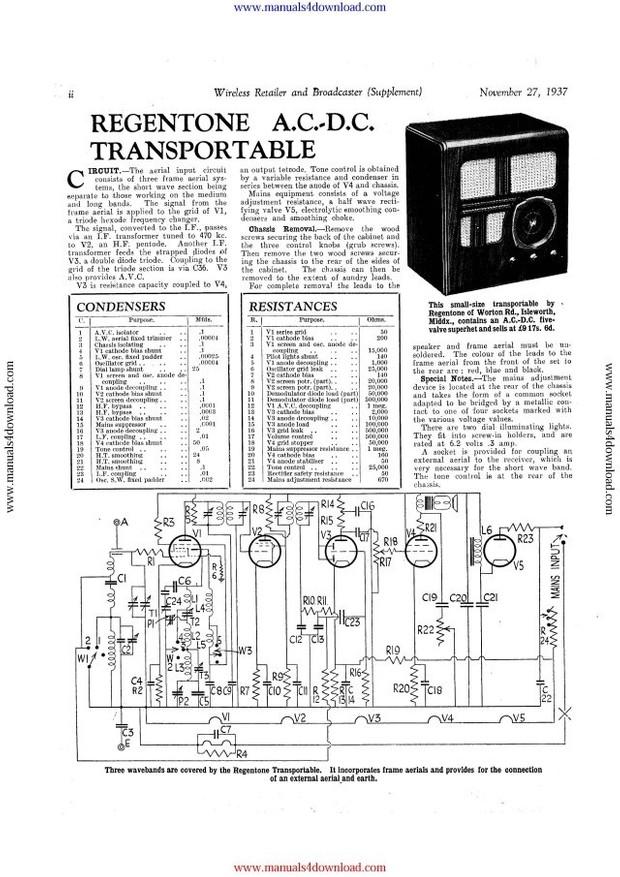 Regentone AC DC Service Info
