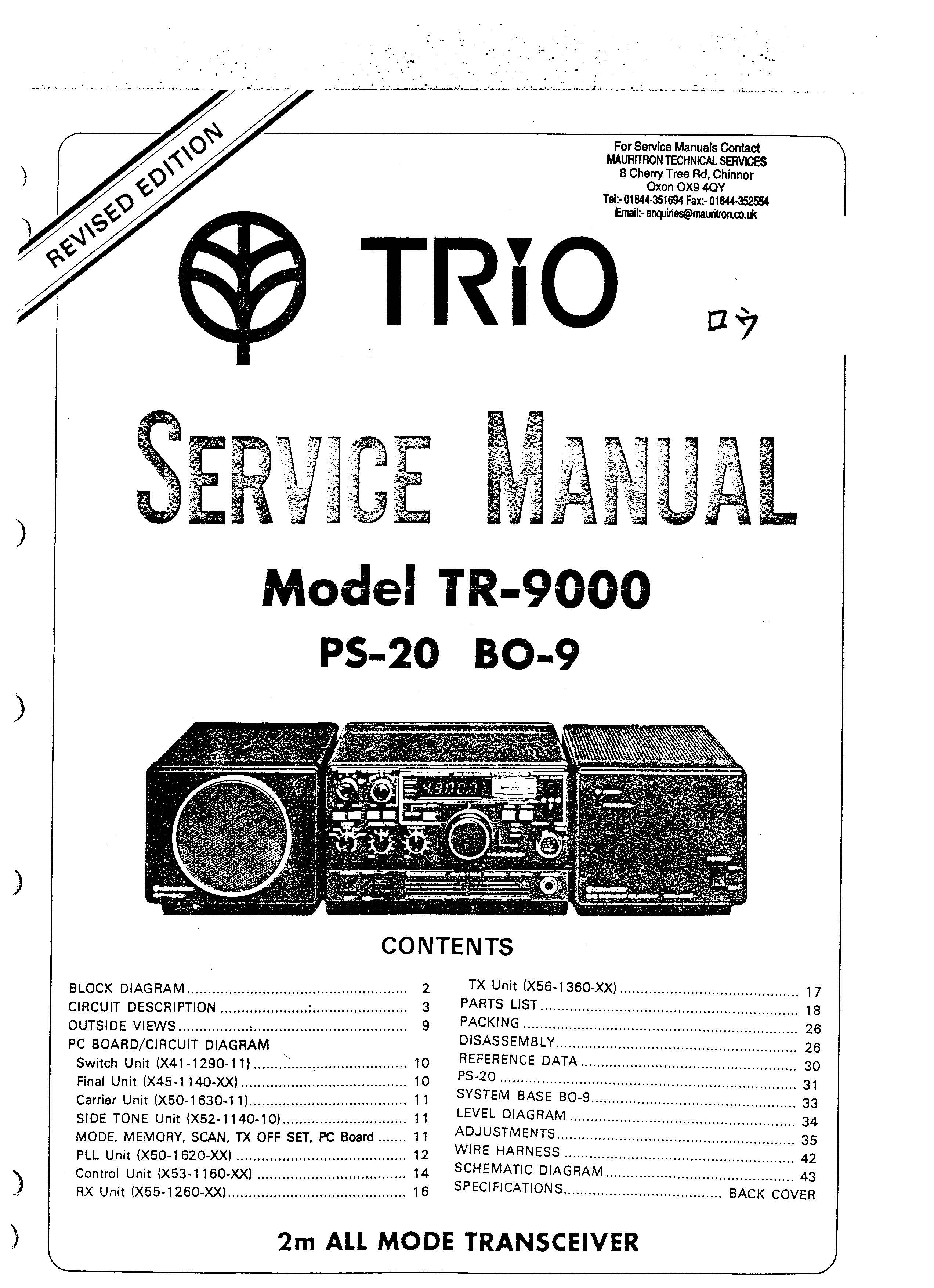 kenwood trio tr9000 ps20 bo9 service manual rh sellfy com Ham Radio 2 Meters