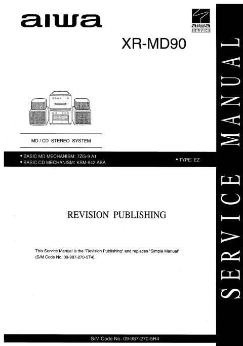 Aiwa XR-MD90 Service Manual