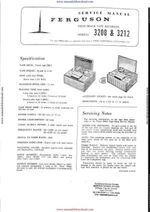 Ferguson 3208 Service Manual