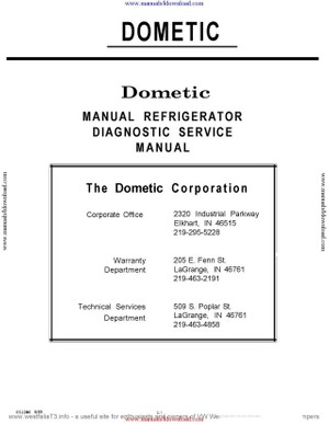 Dometic RC152 Service Manual