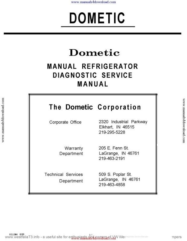 Dometic RC152 Service Manual