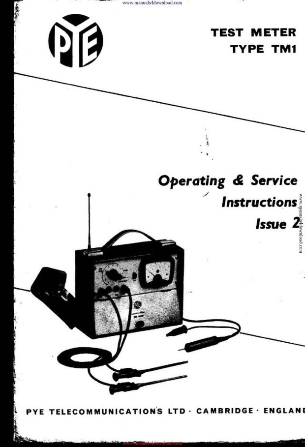 Pye TM1 Operating and Service Manual