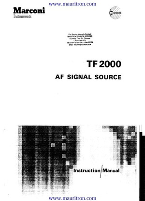 Marconi TF2000 Instruction Manual