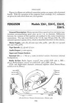 Ferguson 3261 Service Schematics