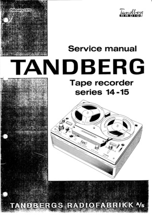 Tandberg 14 15 Series Service Manual