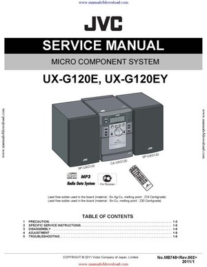 JVC UX-G120 Service Manual