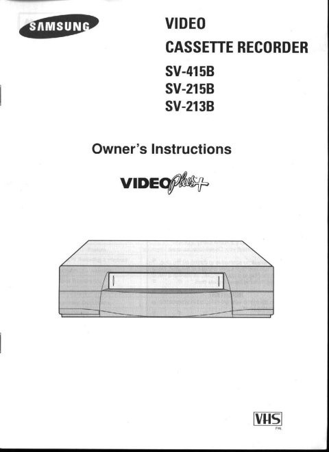Samsung SV213B Operating Guide