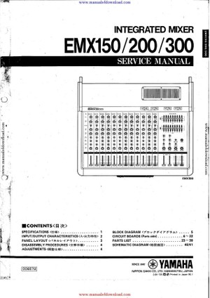 Yamaha EMX300 Service Manual