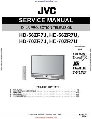 JVC HD-70ZR7U Service Manual