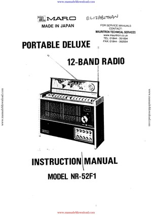 Marc NR52F1 Service Manual