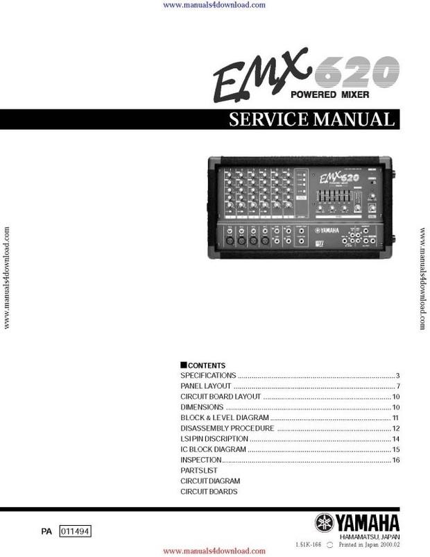 Yamaha EMX620 Service Manual