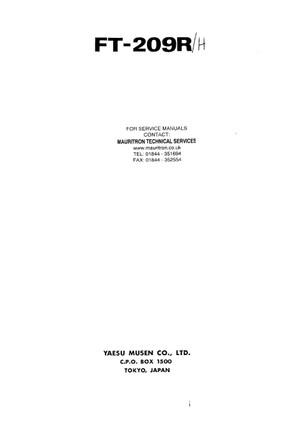 Yaesu FT209R Service Manual
