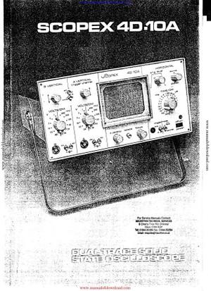 Scopex 4D10A Manual