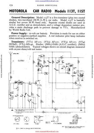 Motorola 115T Service Schematics