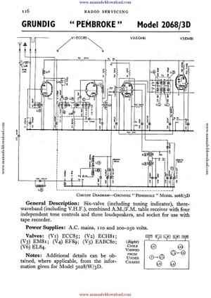 Grundg 2068 Service Schematics