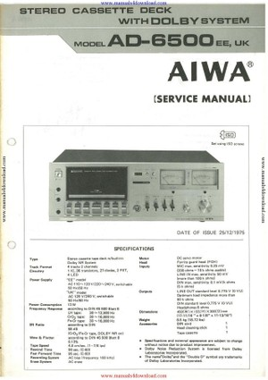 Aiwa AD6500 Service Manual
