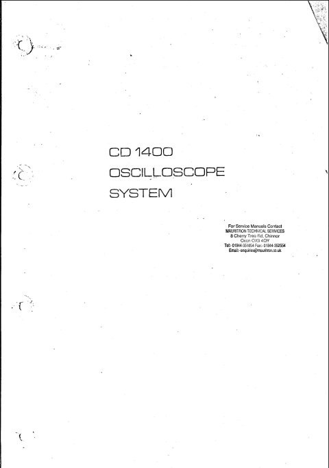Solartron CD1400 Instruction Manual