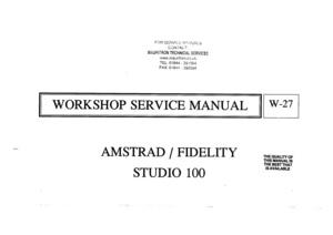 Amstrad Studio 100 Service Manual