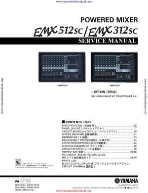 Yamaha EMX312SC Service Manual