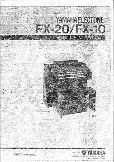 Yamaha FX10 Service Manual