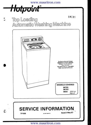 Hotpoint 9605 Service Manual
