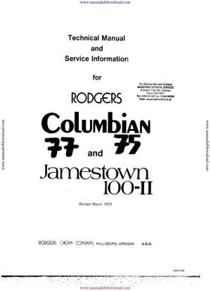 Rogers Jamestown 100 II Service Manual