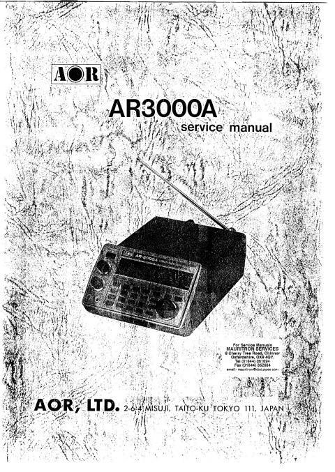 AOR AR3000A Service Manual