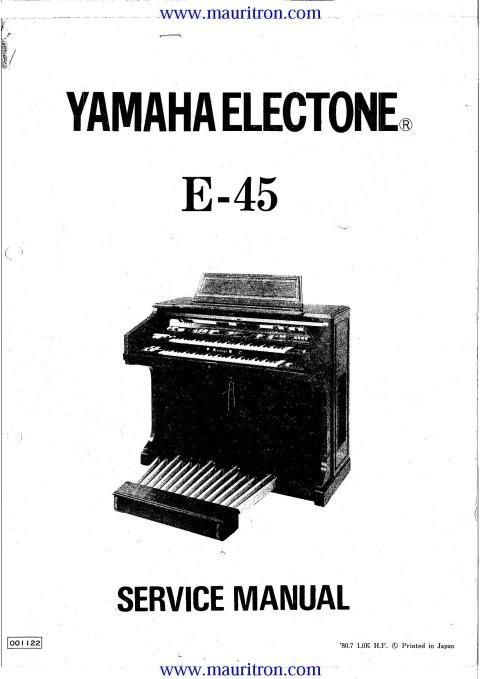 Yamaha E45 Service Manual