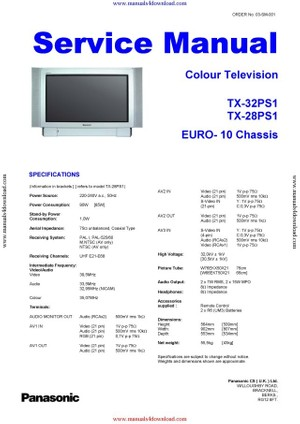 Panasonic TX32PS1 Service Manual
