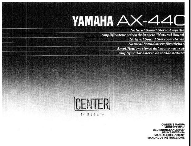 Yamaha AX440 Operating Guide