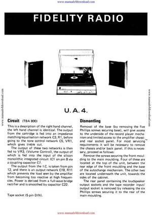 Fidelity UA4 Service Manual