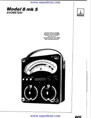 Avo 8 Mk 5 Service Manual