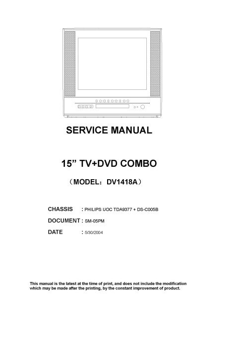Advent DV1418A Service Manual