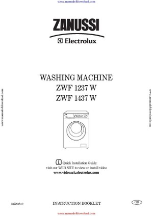 Zanussi ZWF1237W Operating Guide