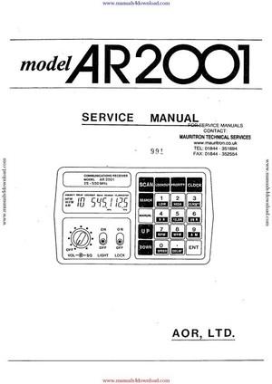 AOR AR2001 Service Manual